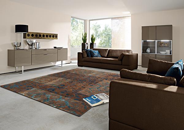 Designer Teppich in Wohnraum