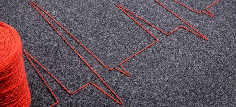Muster Nadelfilztepppich