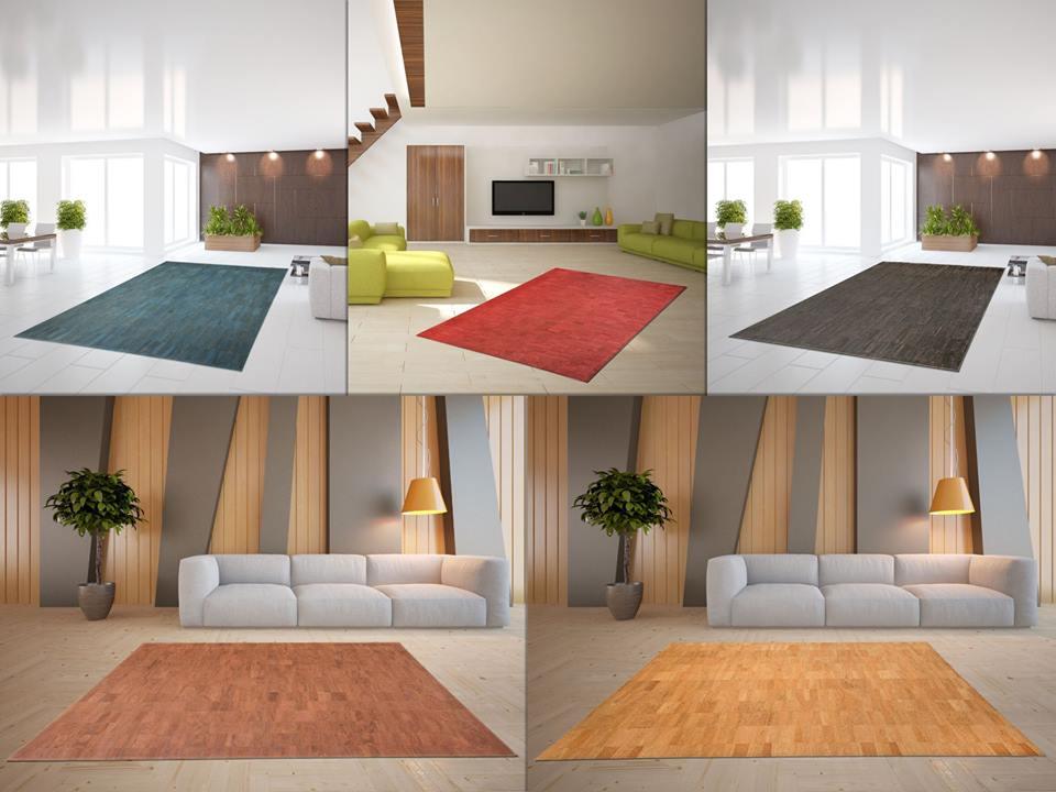 verschiedene Teppiche aus Kork