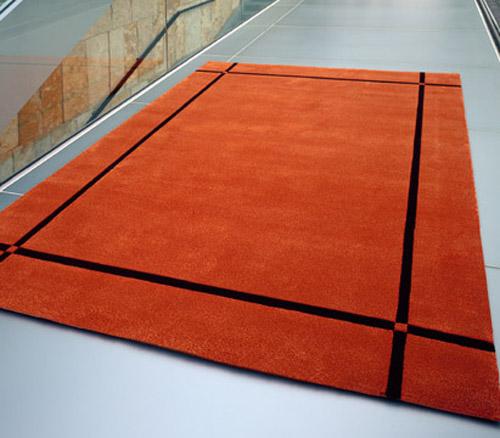 organer Teppich mit Bordüre