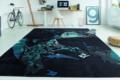 Designerteppich dunkelblau mit Muster
