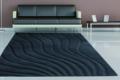teppich mit wellenmuster dunkel