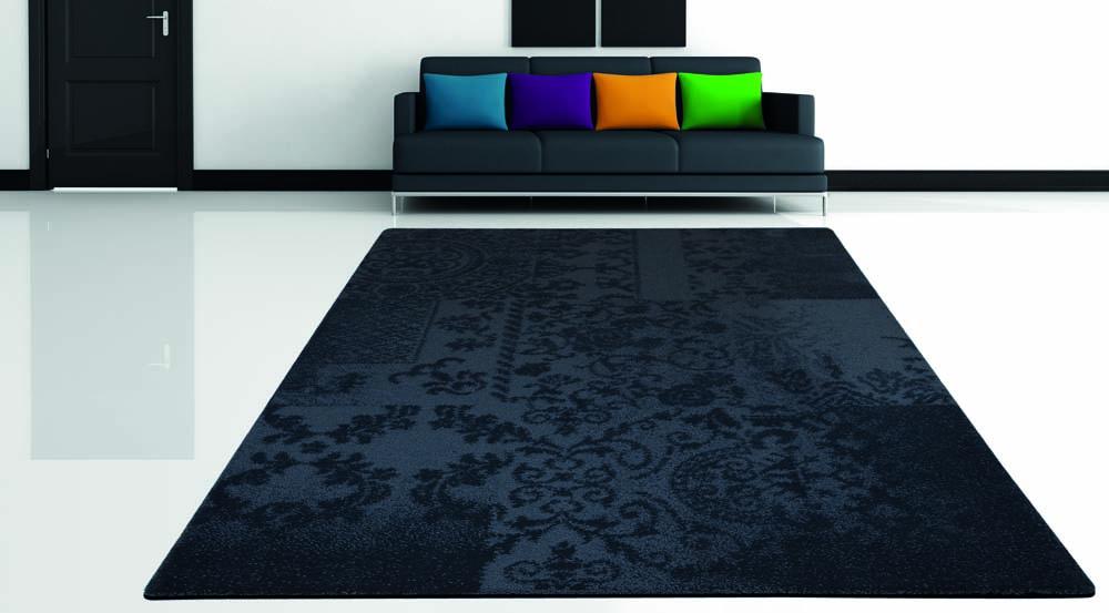 Designerteppich mit Sofa