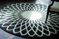 runder teppich schwarz weissmit muster