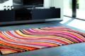 bunter teppich regenbogen