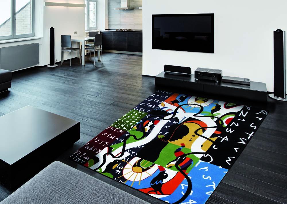 kreativer Teppich bunt abstrakt