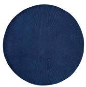 runder teppich navy blau