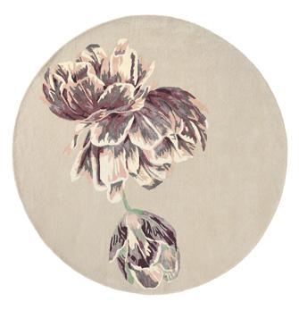 Teppich mit Blüte