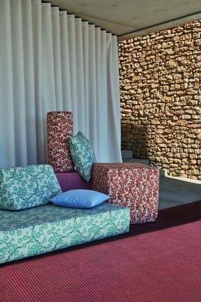 Outdoor Teppich und Sitzmöbel