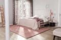 Jab Teppich rosa mit bett