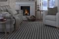 teppich mit streifen handweb und kamin