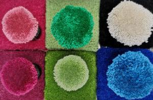 Teppichmuster pink grün blau