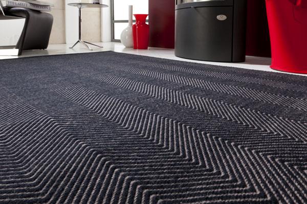 Teppich Flachgewebe schwarz
