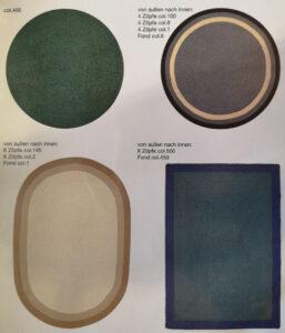 Bordürenvorschläge für Sisal teppich