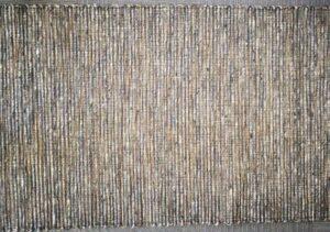 Teppich aus Sisal mit Wolle grau