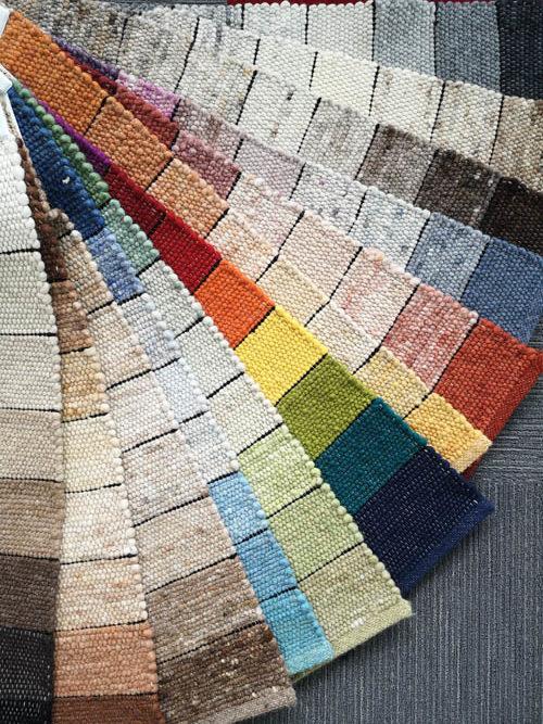 Teppichmuster verschiedene Farben