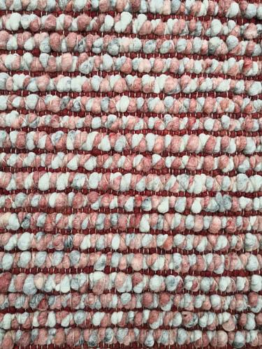Tisca handwebteppich rosa