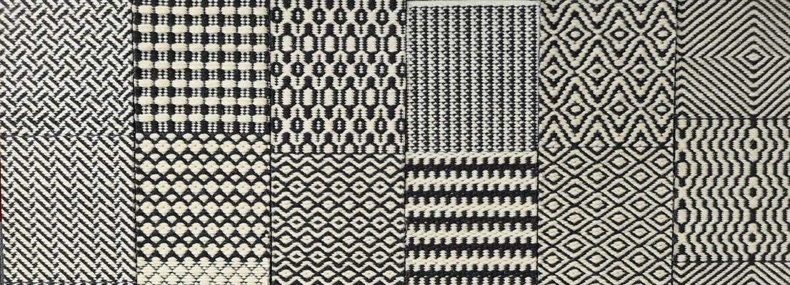 Muster für braun Teppich Flachgewebe