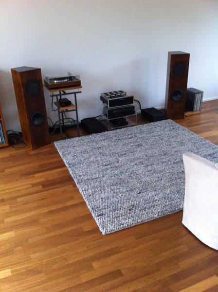 Teppich kieselstein im Wohnzimmer