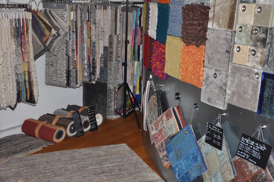 Teppich Muster im Showroom
