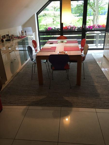 Teppich anthrazit für Esstisch