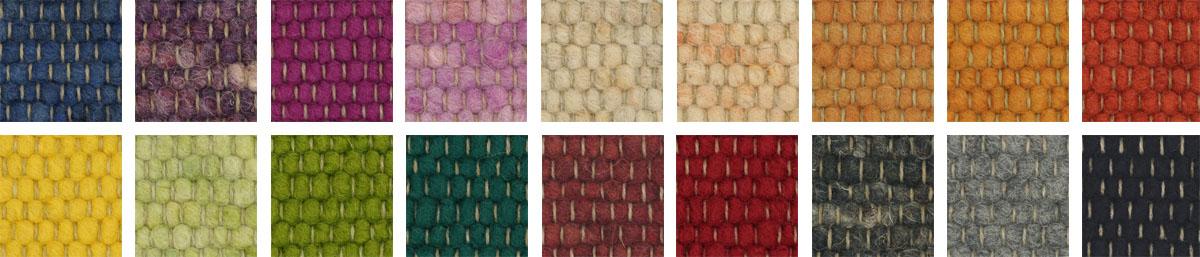 Tisca Teppiche Farbauswahl