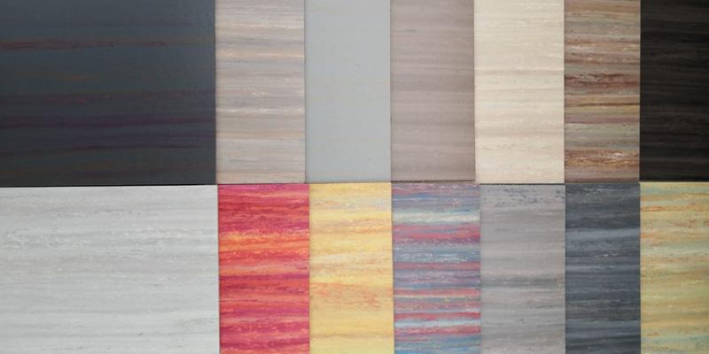 Linoleum Farbmuster für Boden