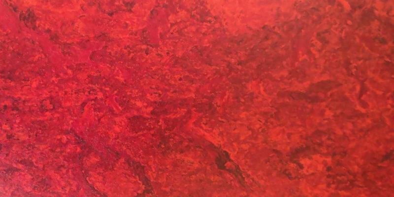Bodenmuster Linoleum rot