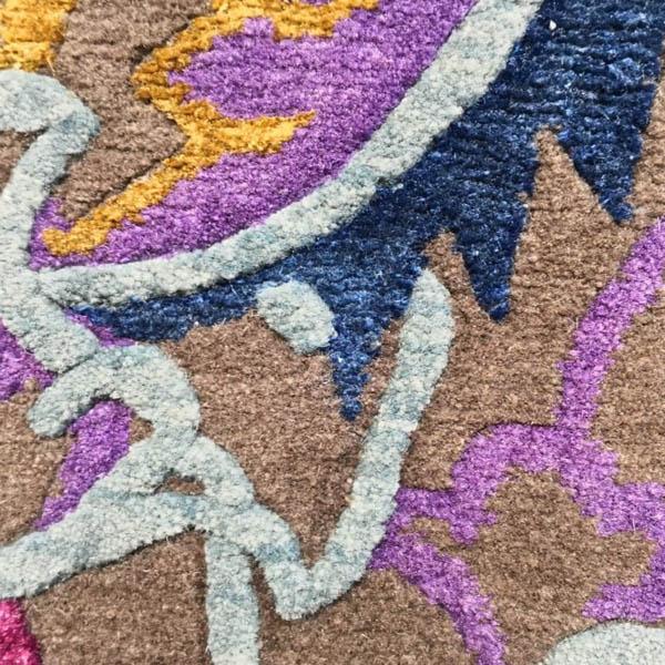 Teppichmuster aus Seide und Schurwolle