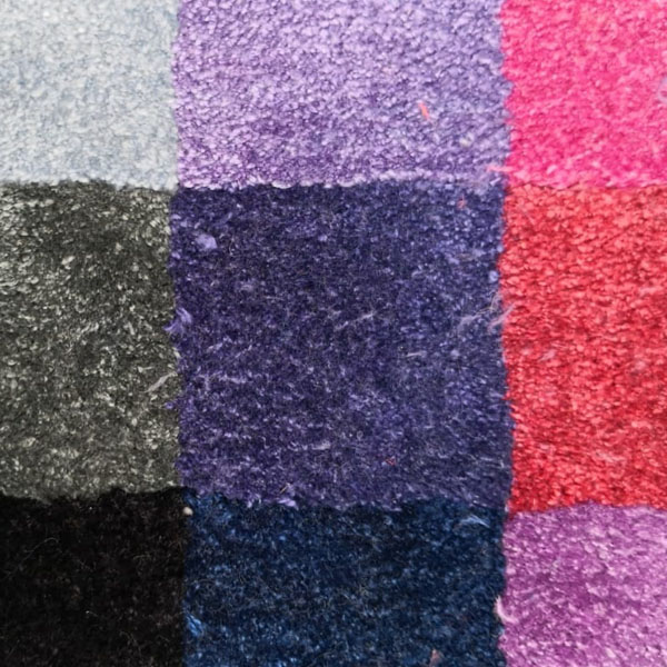 Muster Seide in verschiedenen Farben für Teppiche
