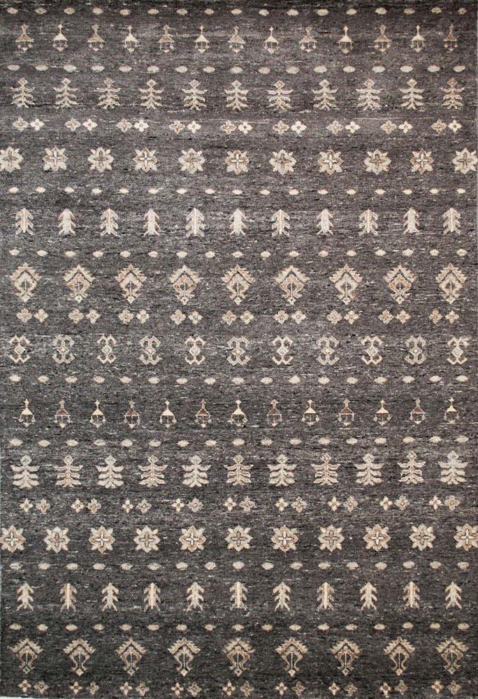 alpaka Teppich ornamente dunkel