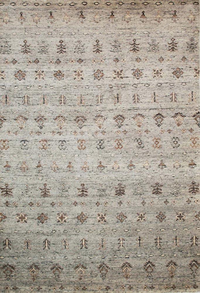 alpaka Teppich ornamente hellgrau