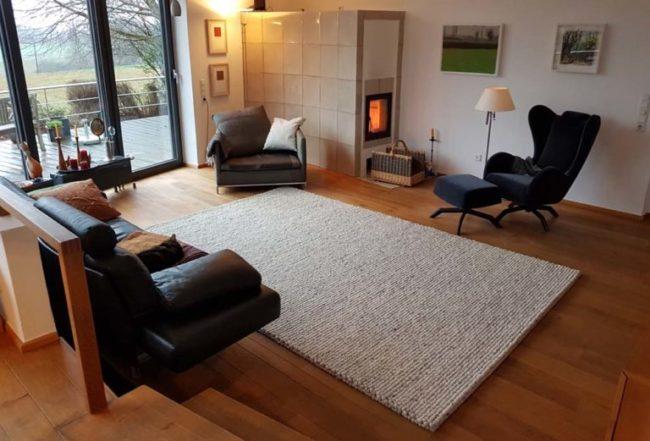 Teppich Haro Wolle im Wohnraum