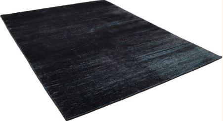 Teppich Seide anthrazit