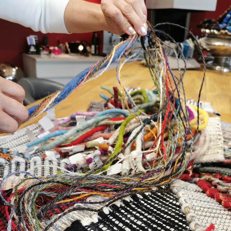 Sisal fäden mit Wolle