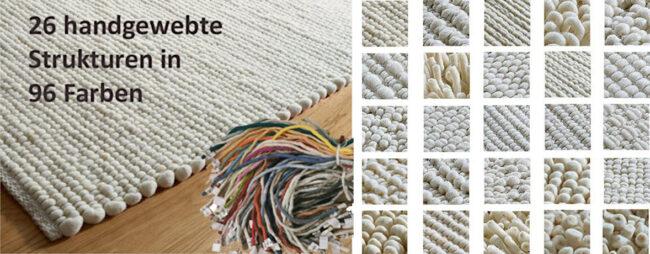 Teppich Header mit Strukturen und bunten Fäden